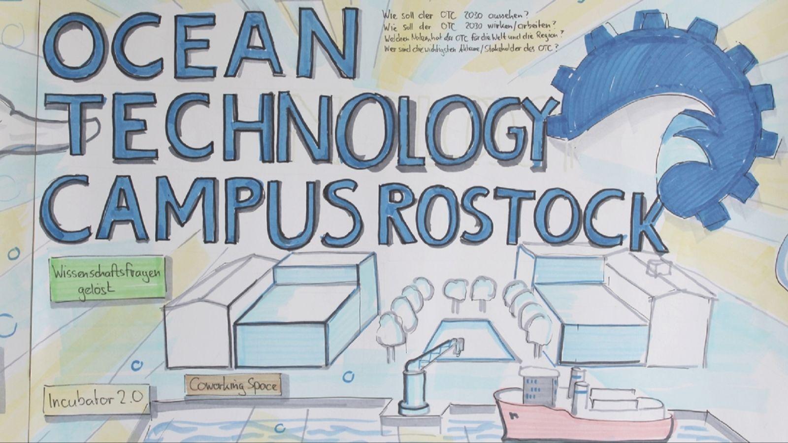 Eine künstlerische Darstellung, wie der OTC Rostock zukünftig aussehen könnte. Quelle: © Universität Rostock